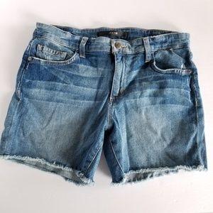 Joe's Jeans Distressed Cutoff Denim Raw Hem Shorts